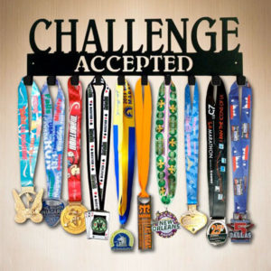 Challenge Accepted Running Medal Holder