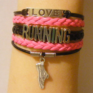 Love Running Stacked Bracelet Gifts for Runners