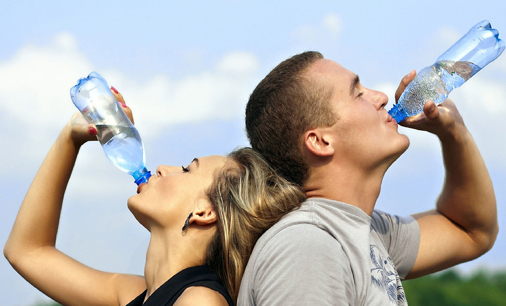 Hydrate when you run in hot weather